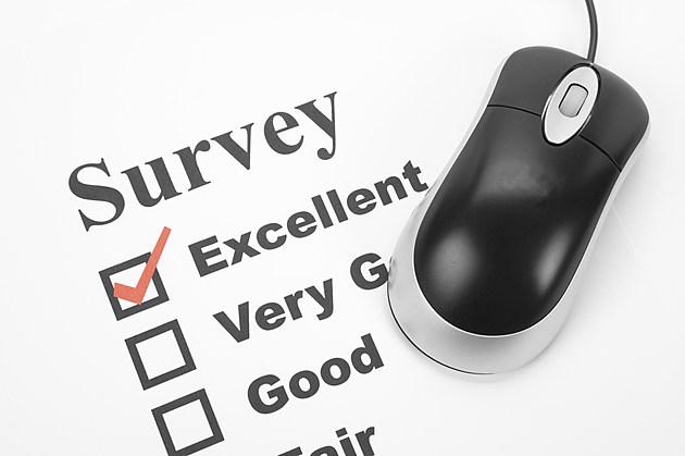 survey questionnaire and computer mouse