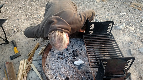 how to make a campfire without matches