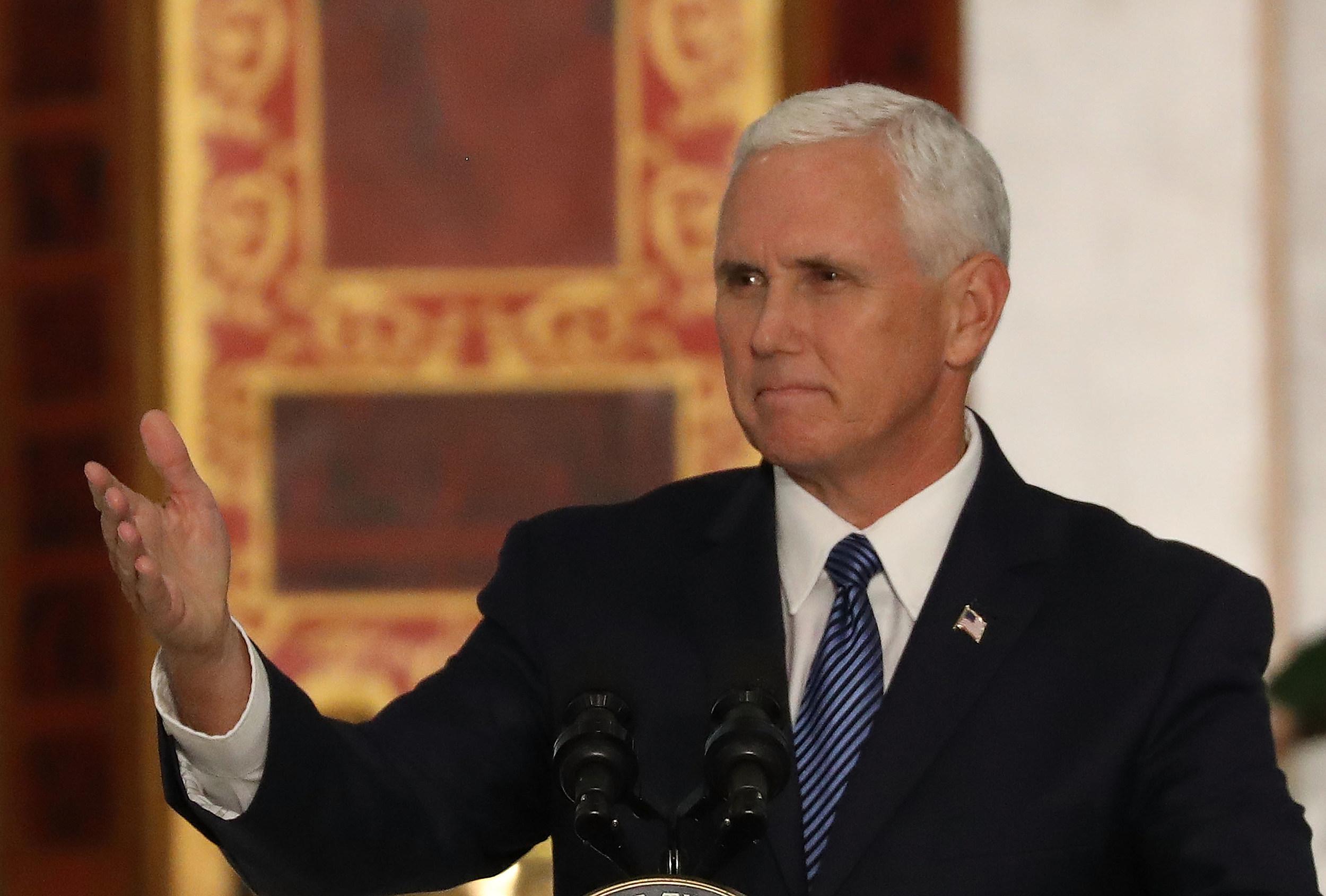 Vice President Pence Speaks To Members Of The Venzuelan Community In Doral, Florida