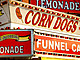 Fair food signage.